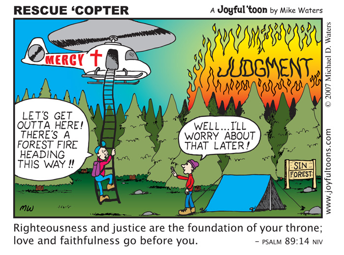 Rescue 'copter - Psalm 89:14