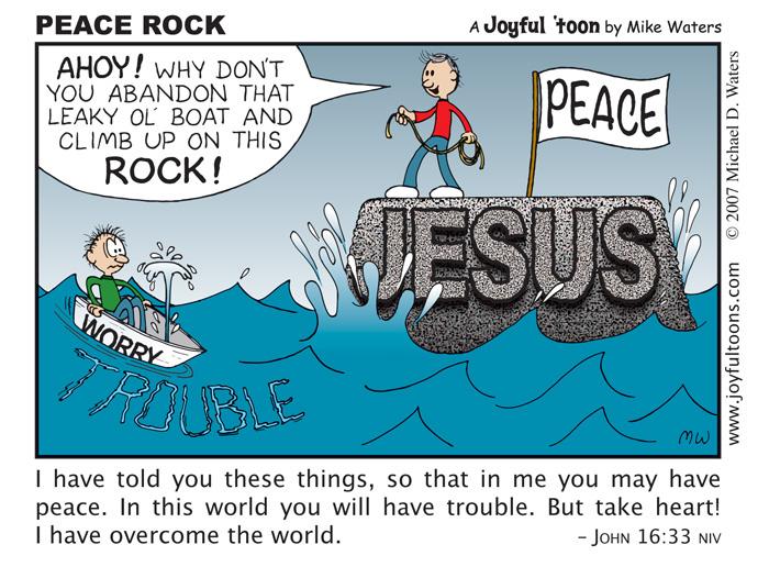 Peace Rock - John 16:33